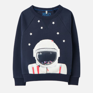 Joules Kids' Ramble Crewneck Sweatshirt - Navy