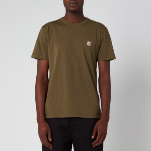 Maison Kitsuné Men's Fox Head Patch T-Shirt - Khaki
