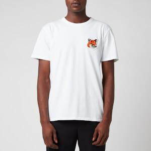 Maison Kitsuné Men's Velvet Fox Head Patch Classic T-Shirt - White