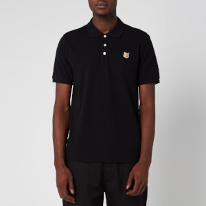 Maison Kitsuné Men's Fox Head Patch Polo Shirt - Black