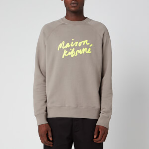 Maison Kitsuné Men's Handwriting Sweatshirt - Dark Grey