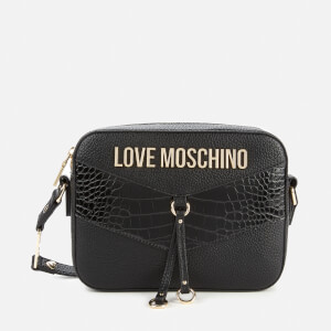 Love Moschino Women's Moc Croc Cross Body Bag - Black