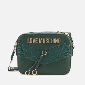 Love Moschino Women's Moc Croc Cross Body Bag - Green
