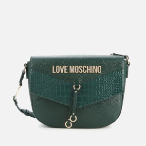 Love Moschino Women's Moc Croc Shoulder Bag - Green