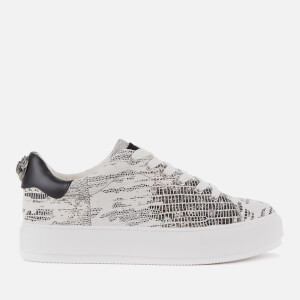 Kurt Geiger London Women's Laney Eagle Leather Flatform Trainers - Black/White