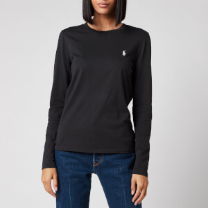 Polo Ralph Lauren Women's Long Sleeve Logo Tee - Black