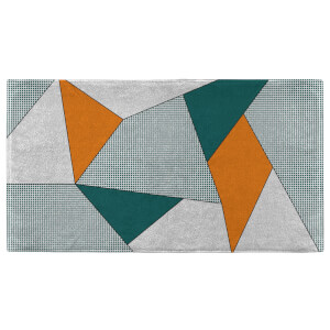 Abstract Orange & Green Fitness Towel