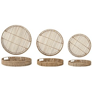 Bloomingville Bamboo Serving Tray - Set of 3