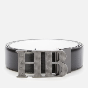 BOSS Men's Balwinno Leather Belt - Black