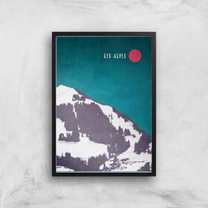 Kubistika Les Alpes Giclee Art Print