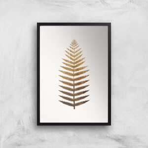 Kubistika Golden Leaf No.7 Giclee Art Print