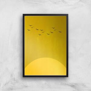 Kubistika Sun Dance Giclee Art Print