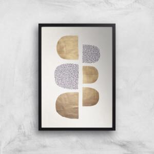 Kubistika Geometric Abstracta Giclee Art Print