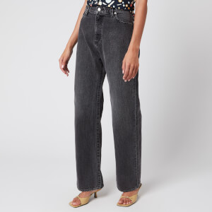 Simon Miller Women's High Rise Wide Leg Jeans - Vintage Wash Black Wash