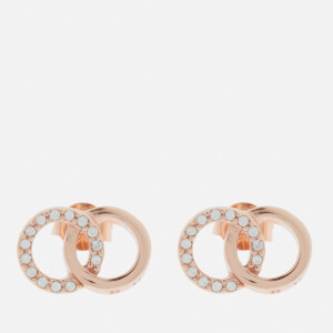 Olivia Burton Women's Bejewelled Classics Interlink Earrings - Rose Gold