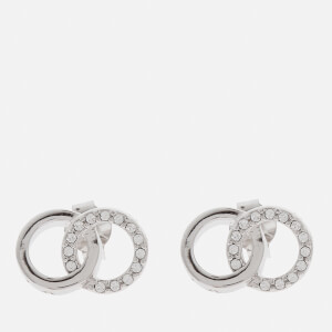 Olivia Burton Women's Bejewelled Classics Interlink Earrings - Silver