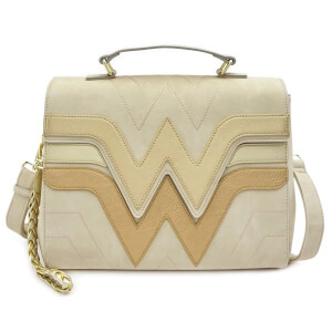 Loungefly DC Wonder Woman Gold Cross Body Bag