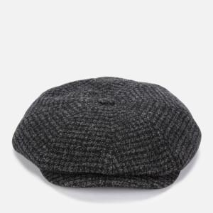Ted Baker Men's Open Check Wool Baker Boy Cap - Charcoal