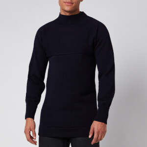 Maison Margiela Men's Funnel Neck Sweatshirt - Navy