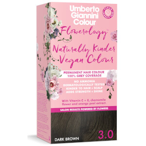 Umberto Giannini Flowerology Naturally Kinder Colour - Dark Brown 3.0 195ml