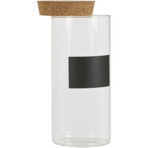 Tromso Glass Storage Jar with Cork Lid - Large
