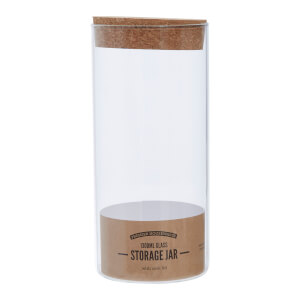 Tromso Glass Storage Jar with Cork Lid - Large