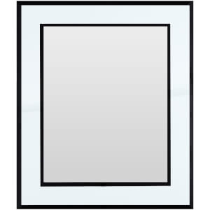 "8 x 10"" Photo Frame - Mirrored/Black"