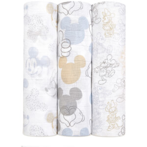 aden + anais Disney Metallic Swaddles - Mickey and Minnie (3 Pack)