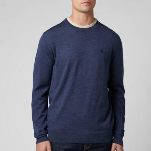 Polo Ralph Lauren Men's Merino Wool Sweatshirt - Fresco Blue Heather