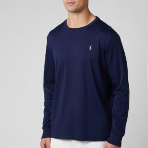 Polo Ralph Lauren Men's Custom Slim Fit Long Sleeve T-Shirt - French Navy