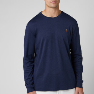 Polo Ralph Lauren Men's Custom Slim Fit Long Sleeve T-Shirt - Spring Navy Heather