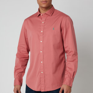 Polo Ralph Lauren Men's Long Sleeve Sport Shirt - Indian Pink