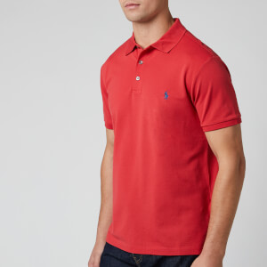 Polo Ralph Lauren Men's Slim Fit Mesh Polo Shirt - Evening Post Red