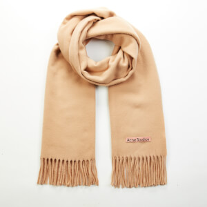 Acne Studios Canada New Oversized Wool Scarf - Camel Brown