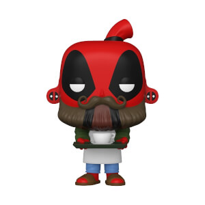 Marvel- Deadpool 30th - Coffee Barista Figura Funko Pop! Vinyl
