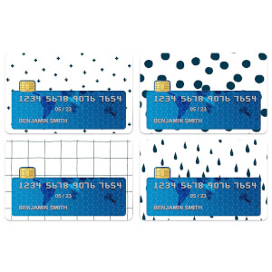 Light Pattern Credit Card Covers