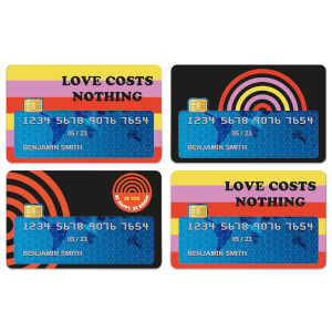 Love Costs Nothing Credit Card Covers