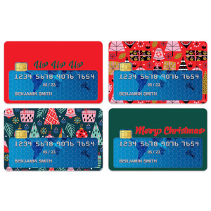 Merry Christmas Credit Card Covers
