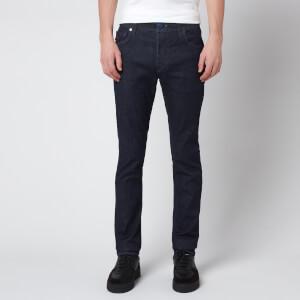 Tramarossa Men's Leonardo Slim 5 Pocket Jeans - Denim Dark Blue Stretch