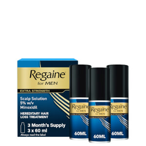 Regaine for Men Extra Strength Scalp Solution (3 Month Supply) 3 x 60ml