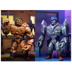 NECA Teenage Mutant Ninja Turtles Cartoon Traag and Granitor 2 Pack Action Figures