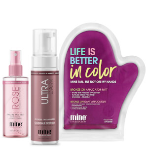 MineTan Get Glowing Face and Body Tanning Trio (Worth £32.97)