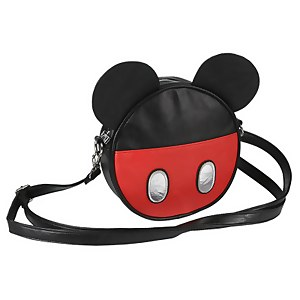 Disney Mickey Mouse with Ears Faux Leather Shoulder Bag