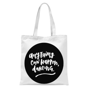 Planeta4 Anything Can Happen Darling Tote Bag - White