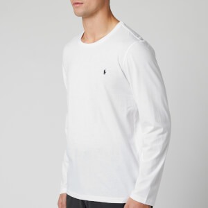 Polo Ralph Lauren Men's Cotton Jersey Crewneck Long Sleeve Top - White