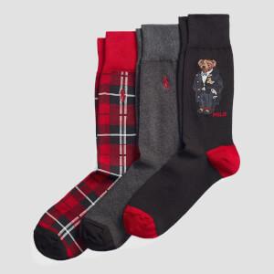 Polo Ralph Lauren Men's Gift Boxed Holiday Cotton Socks - Multi