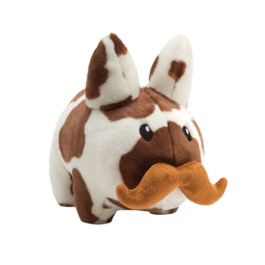 Kidrobot Cow Labbit Plush 14 Inch brown