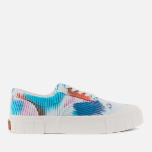 Good News Men's Opal Tie Dye Cord Sustainable Trainers - Blue/Pink