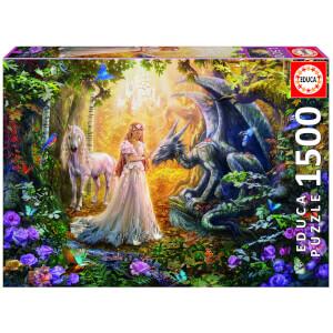 Dragon, Princess & Unicorn Jigsaw Puzzle (1500 Pieces)