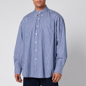 Our Legacy Men's Borrowed Bd Multiple Stripe Shirt - Blue